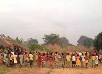 children in a circle in the Central African Republic