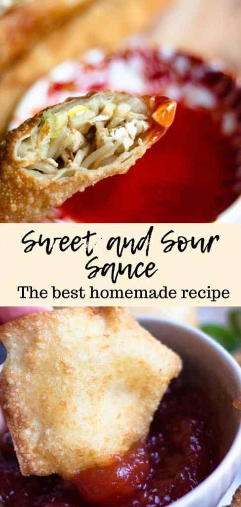 Sweet and sour sauce pinterest image