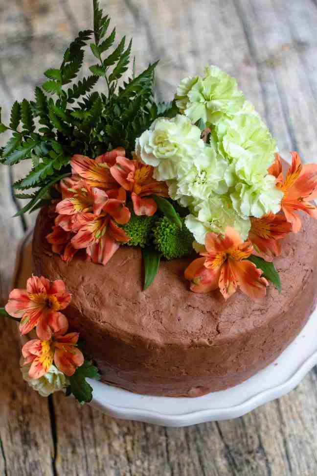 decorated flower cake