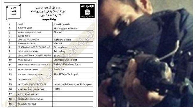 Ексклузивно: Бланка за регистрация на джихадисти от ИДИЛ