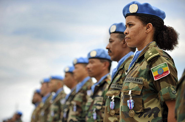Female peacekeeper, courtesy United Nations Photo/Flickr (CC BY-NC-ND 2.0)