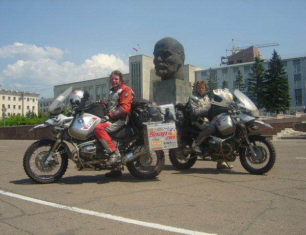 Ewan McGregor on his motorcycle in Siberia - coming to a rescue site near you? (c) Long Way Round
