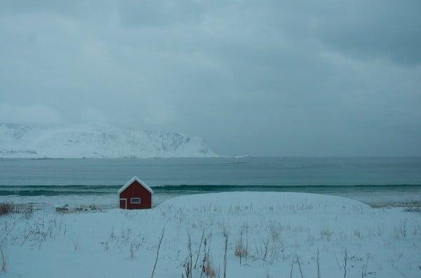 The Arctic - somebody's home. (c) Mia Bennett
