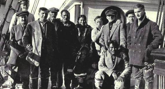 The survivors of the sunken Karluk.