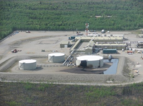 Oil spill at PS-9, Tank 190. © Alyeska Pipeline Service Company