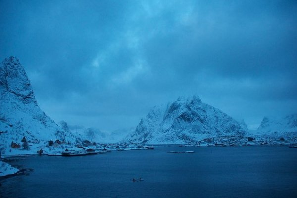 Reine, Lofoten Islands, Norway. (c) Mia Bennett, January 2013.