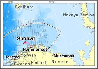 Map of Snoehvit's location. From StatoilHydro.