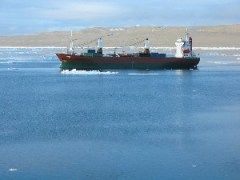 The Umiavut near Resolute Bay, Canada
