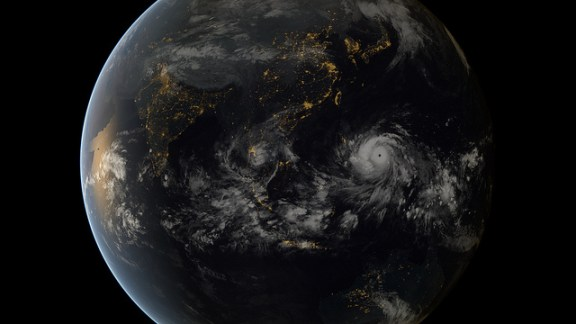 Typhoon Haiyan from space.