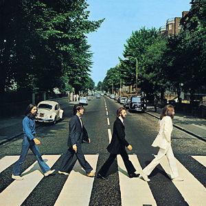Beatlesin albumin Abbey Road (1969) kansikuva.