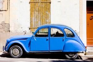 car Citroën, Valensole, Provence, France