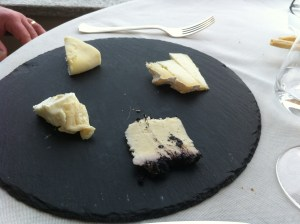 Mark's selection of Piemonte cheeses