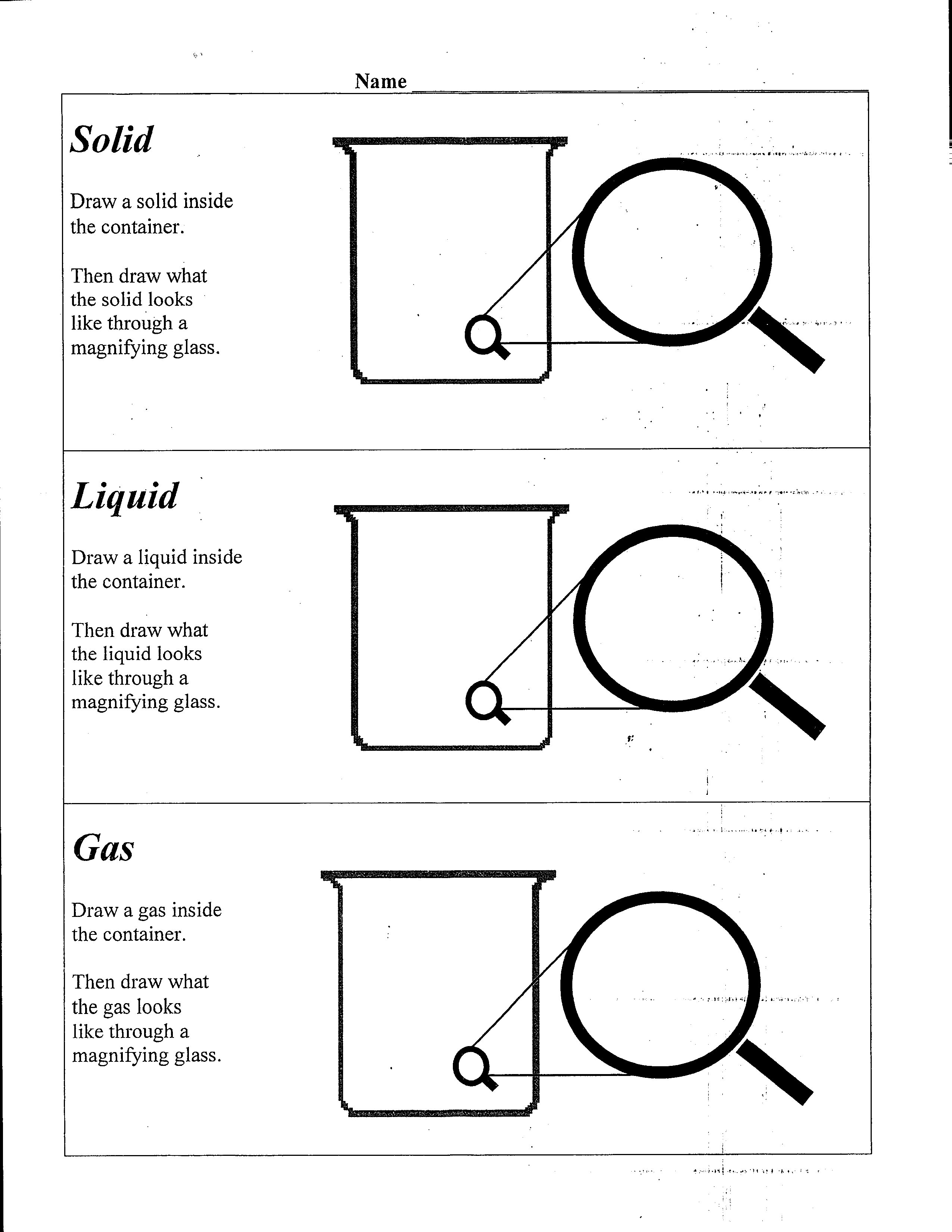 Worksheet Solid Liquid Gas Worksheet Worksheet Fun