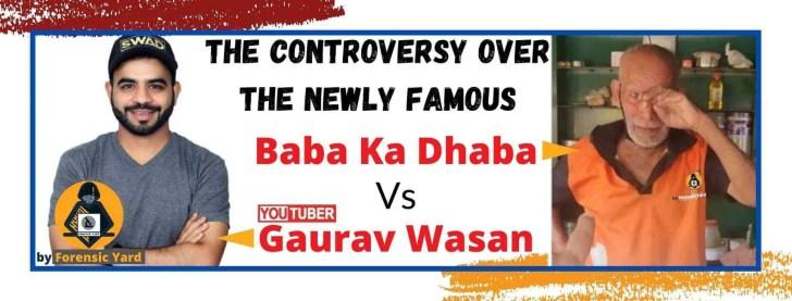 baba ka dhaba v/s Gaurav Wasan controversy