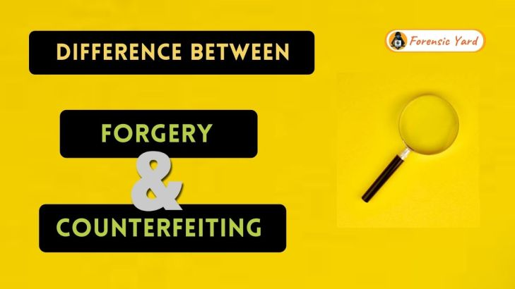 Difference Between Forgery and Counterfeiting Forensic Yard