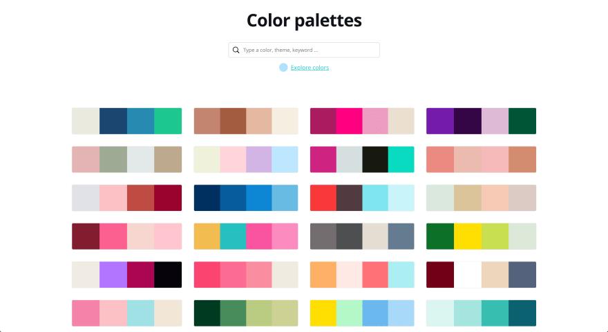 Canva配色パターン例