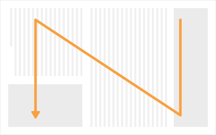 N型視線誘導のモック例