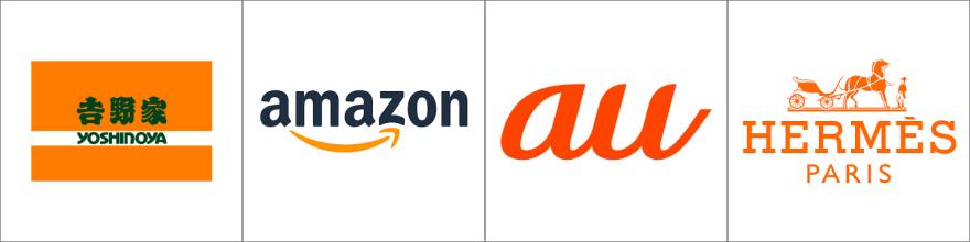橙色のロゴ例
