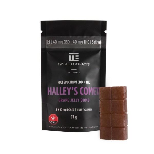 Grape Halley's Comet - FULL SPECTRUM (40mg THC + 40mg CBD)