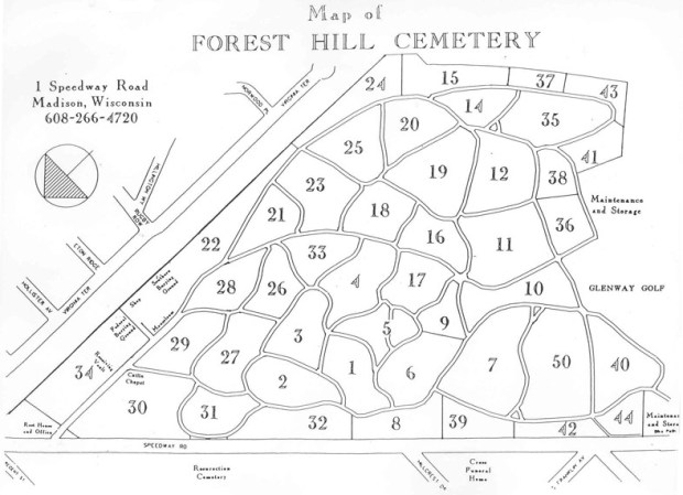 Forest Hill Cemetery Map (official version)