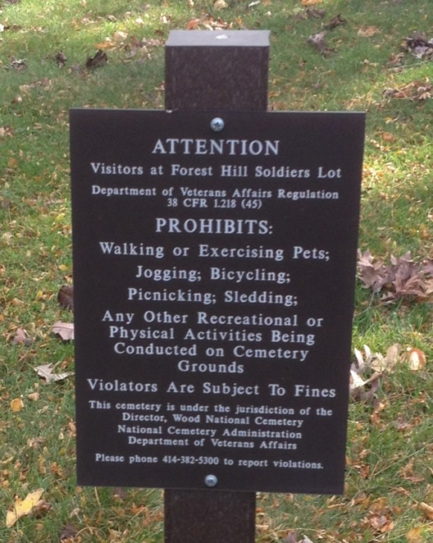 Prohibited activities with in Forest Hill. Photo by CS Thomson.