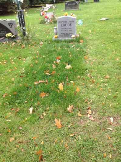 Jennifer Lodde Freshly Sodded Grave