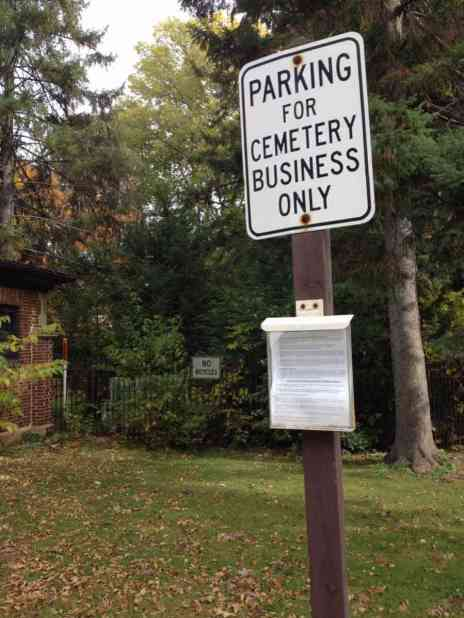 Sign Regulating Parking