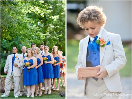 RING BEARER bridesmaid groomsmen forest house lodge wedding venue