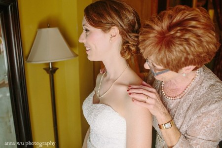 bride and the mother