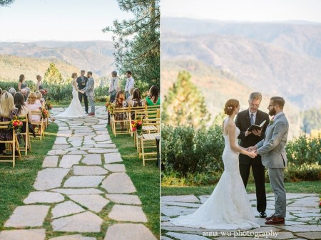 wedding ceremony at foresthill california