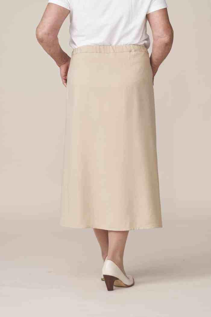 jupe portefeuille longue facile à enfiler fermeture aimantée