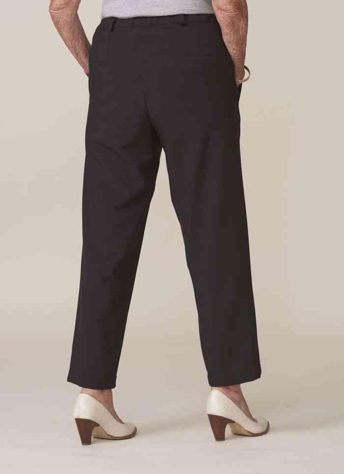 pantalon droit noir pour senior fermeture aimantée