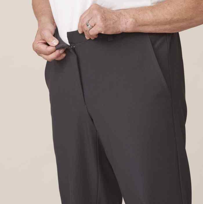 pantalon sans boutons fermeture aimantée pour senior