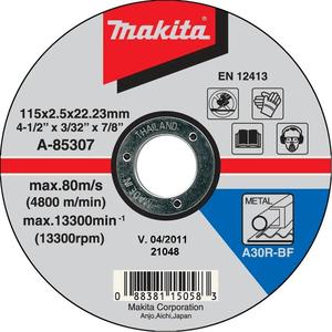 Makita A-85307 - DISC TAIERE OTEL A30R 115X22