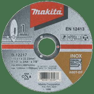 Makita B-12217 - DISC TĂIERE INOX 115X1.0X22 - ForeStore