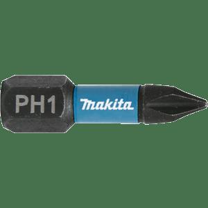 Makita B-63622 - 2 BITI IMPACT BLACK HEX 1/4 PH 3 25MM - ForeStore
