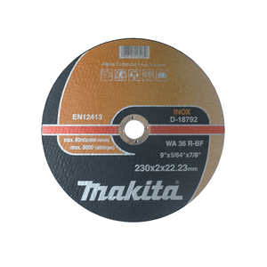 Makita D-18792 - DISC TĂIERE INOX 230X2 - ForeStore