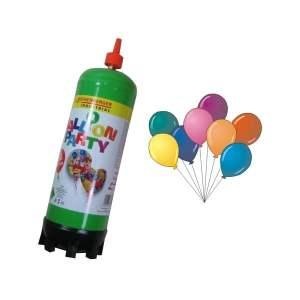 Butelie heliu + set 25 baloane