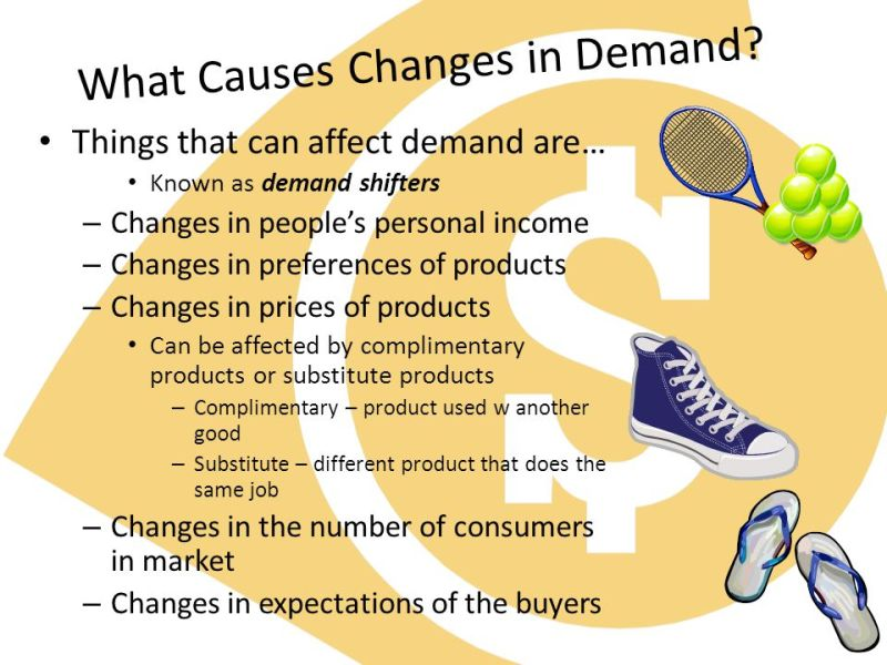 Define the non-price factors/causes of change in demand or demand shifter