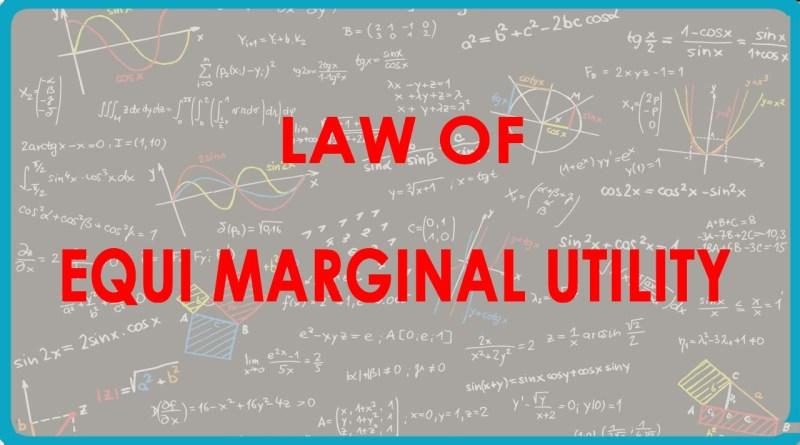 Law of Equi-Marginal Utility - forestrypedia.com