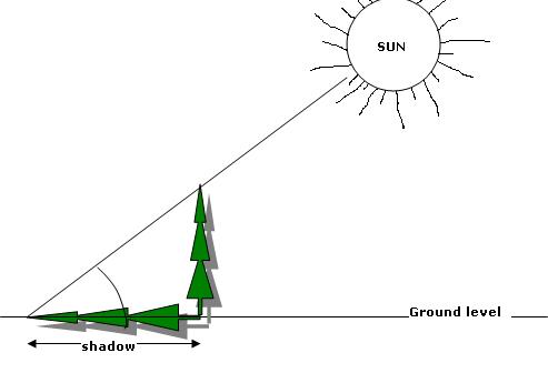 Height Measurements - Shadow Method - Forestrypedia