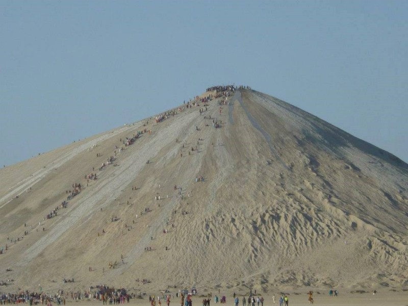 Pilgrims on Chandar-gup (Mud Volcano)