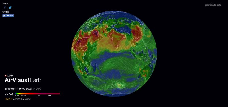 AirVisual Earth Shows Real Time Air Pollution in 3D - Forestrypedia