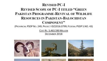 Green Pakistan Programme - Revival of Wildlife Resources in Pakistan - Balochistan Component   Revised PC-I - Forestrypedia