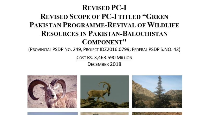 Green Pakistan Programme - Revival of Wildlife Resources in Pakistan - Balochistan Component | Revised PC-I - Forestrypedia