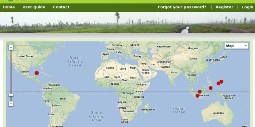 Interactive web app lets users map forest carbon emissions
