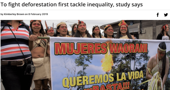 Mongabay indigenous rights inequality deforestation latin america