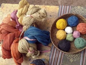 Cotton threads naturally dyed using indigo, turmeric and 'mengkudu' (Morinda citrifelia). Photo: World Agroforestry Centre/Aulia Perdana