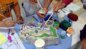 3D-mapping session in the training workshop. This activity helped people identify the potential 'sellers' for the co-investment schemes. Photo: World Agroforestry Centre/Kharmina Evangelista