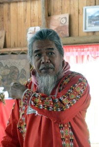 Datu Migketay of the Tala-andig was critical of some aspects of development and research projects. Photo: World Agroforestry Centre/Amy Cruz